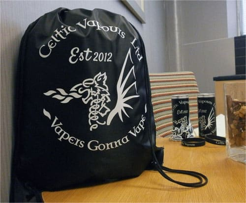 Celtic Vapours Drawstring Bag