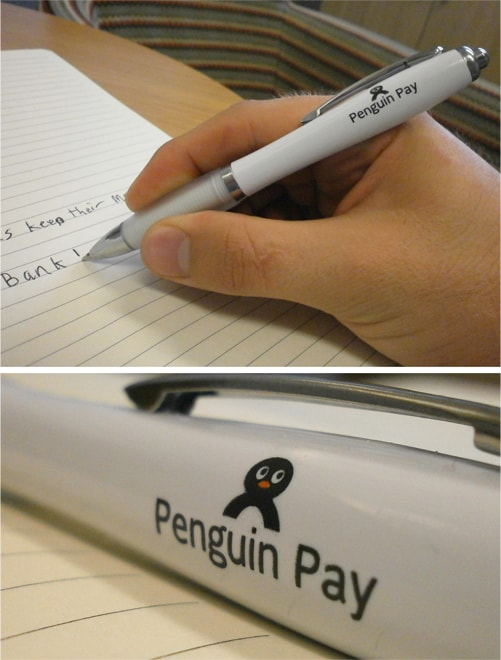 Penguin Pay Promotional Pens