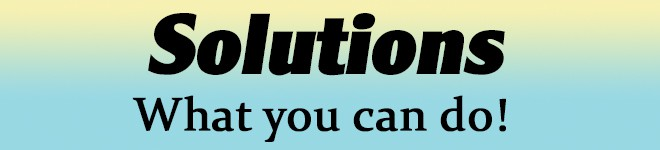 Solutions - What you can do