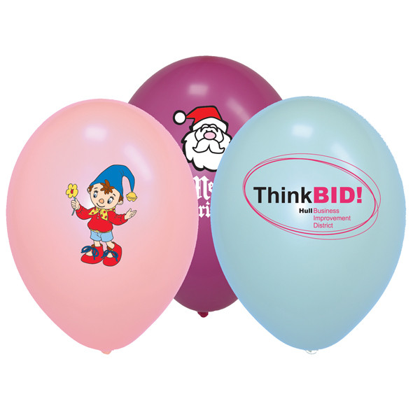 "Printed Balloons 10"" - Pastel Colours"
