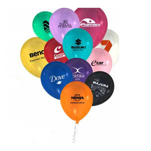 Printed Balloons 12 Inch In Pastel Colours