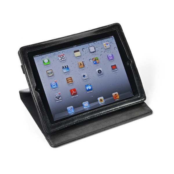 Ipad Holder In Bonded Leather