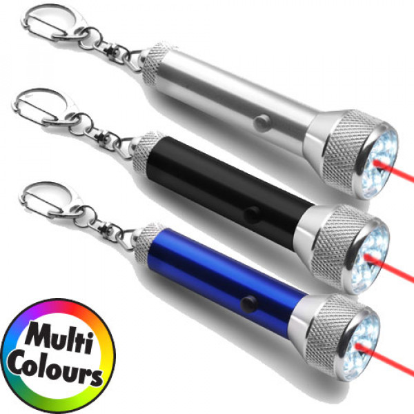 Key Holder, Torch And Laser