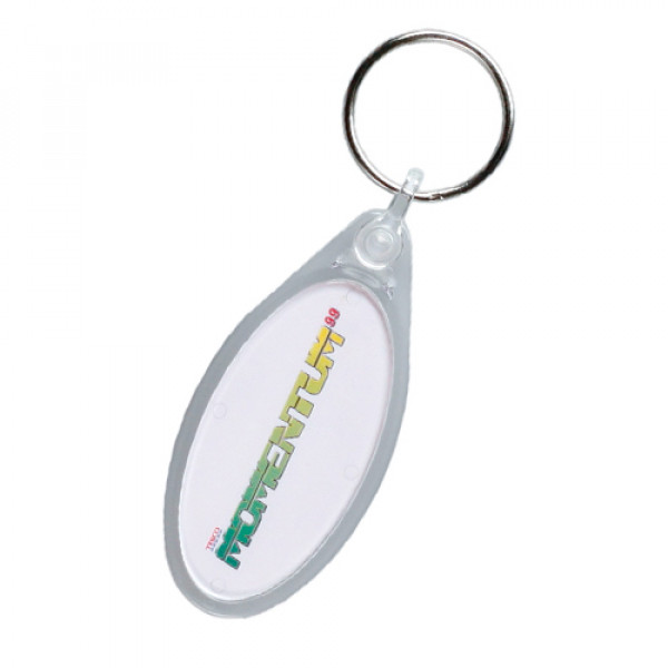 Oval Keyring - Clear