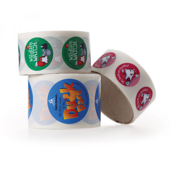 Stickers on a Roll
