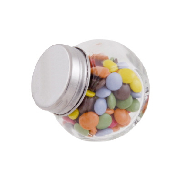 Mini Glass Jar with Chocolate Drops