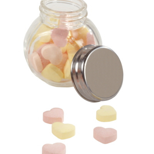 Mini Glass Jar with Heart Sweets