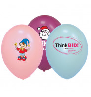 """Printed Balloons 10"""" - Pastel Colours"""