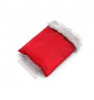 Ice Scraper In Fleece Glove - Red