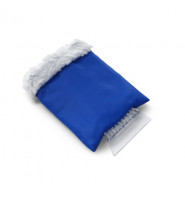 Ice Scraper In Fleece Glove - Cobalt Blue