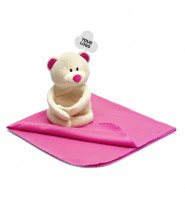 Soft Bear And Fleece Blanket - Pink