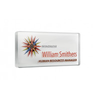 Acrylic Name Badge with Dome