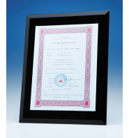 Black Glass Frame For A4 Photo Or Certificate