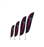 Zoom Lite Crest Flags 2.8m